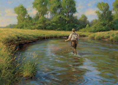 Got Em     - Fly Fishing Fly Fisherman Painting